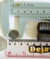 Magnet Ferrite Coin Hitam d15x3mm